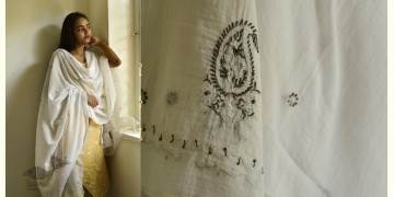 Tahzeeb . तहज़ीब ✽ Hand Embroidered Cotton Dupatta ✽ 12