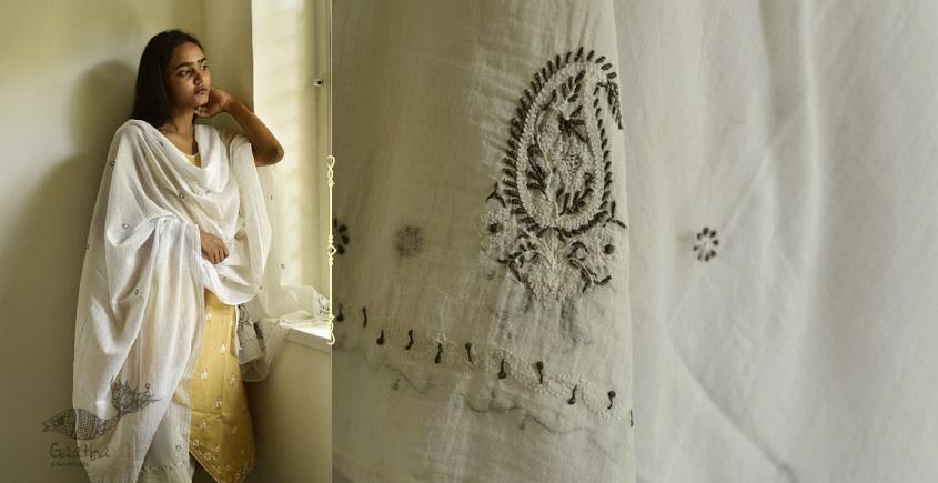 shop online Hand Embroidered Cotton Dupatta 12
