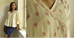 Tahzeeb . तहज़ीब ✽ Handloom Cotton ✽ Hand Embroidered Top ✽ 5