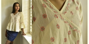 Tahzeeb . तहज़ीब ✽ Handloom Cotton ✽ Hand Embroidered Top ✽ 5