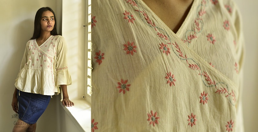Organic Cotton Hand Embroidered Top 5