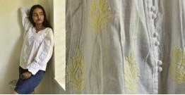 Tahzeeb . तहज़ीब ✽ Handloom Cotton ✽ Hand Embroidered Top ✽ 6