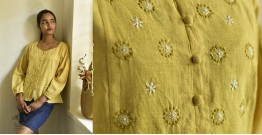 Tahzeeb . तहज़ीब ✽ Handloom Cotton ✽ Hand Embroidered Top ✽ 8