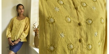 Tahzeeb . तहज़ीब ✽ Handloom Cotton ✽ Hand Embroidered Top ✽ 8