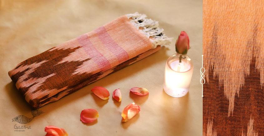 अर्क ✽ Handloom Cotton Linen Ikat Dupatta ✽ D