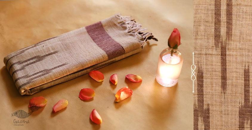 अर्क ✽ Handloom Cotton Linen Ikat Dupatta ✽ F
