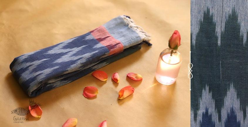 अर्क ✽ Handloom Cotton Linen Ikat Dupatta ✽ L