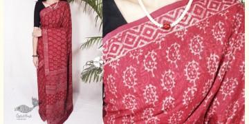 Indigenous Impressions ★ Hand Block ★ Bagru Printed Mul Cotton Saree ★ 5