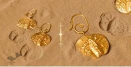 Ottone ✡ Earring ✡ Fossil Dangler - 2 ✡ 9
