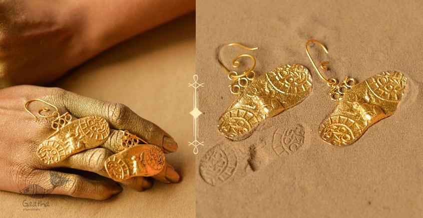 Ottone ✡ Earring ✡ Fossil Dangler - 5 ✡ 12
