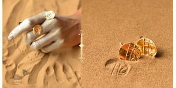 Ottone ✡ Earring ✡ Fossil Stud - 4 ✡ 21
