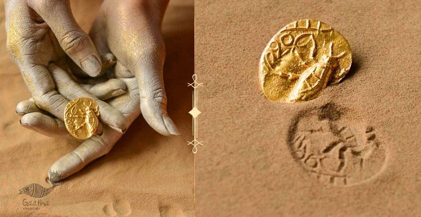 Ottone ✡ Earring ✡ Fossil Stud - 5 ✡ 22
