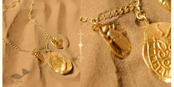 Ottone ✡ Necklace ✡ Fossil Charm - 1 ✡ 44