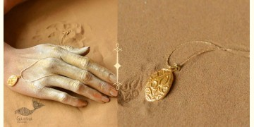 Ottone ✡ Necklace ✡ Fossil Pendent S - 1 ✡ 30