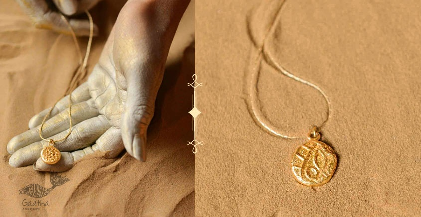 Ottone ✡ Necklace ✡ Fossil Pendent S - 6 ✡ 35