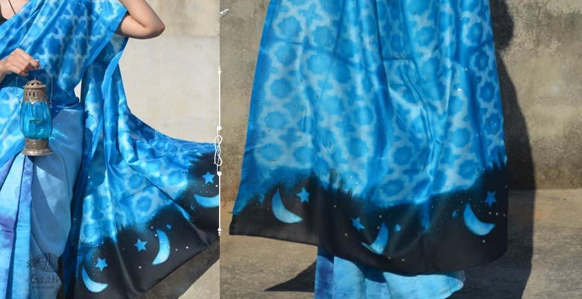 Harini ☙ Chanderi Clamp Dyed & Hand Embroidered ☙ Jaali Saree. ☙ 4
