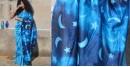 Harini ☙ Chanderi Clamp Dyed & Hand Embroidered ☙ Moon Pallu Saree. ☙ 6