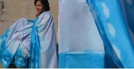Harini ☙ Chanderi Silk Clamp Dyed Asmaan Baadal Saree ☙ 25