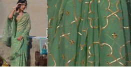 Shaahi ❂ Pure Chiffon Gota Patti Saree ❂ N