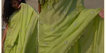 Shaahi ❂ Pure silk hand-embroidered Saree ❂ F