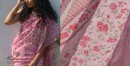 Shaahi ❂ Chanderi Silk ❂ Hand Block Printed Rose Garden Saree ❂ 16
