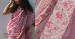 Shaahi ❂ Chanderi Silk ❂ Hand Block Printed Rose Garden Saree ❂ 16