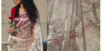 Shaahi ❂ Tissue Silk Hand Embroidered Gulaab Saree ❂ 20