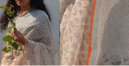 Shaahi ❂ Chanderi Silk ❂ Hand Block Printed Saree ❂ 21