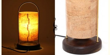 Crafted Designer Products ✫ Table Lamp - Lantern (cork) ✫ 24
