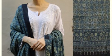 शोभना . Shobhna ❋ Mul Cotton Ajrakh Dupatta - 17