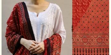 शोभना . Shobhna ❋ Mul Cotton Ajrakh Dupatta - 1