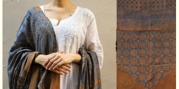 शोभना . Shobhna ❋ Mul Cotton Ajrakh Dupatta - 2
