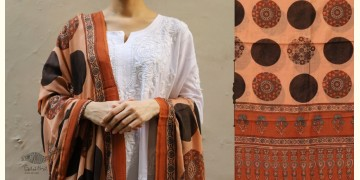 शोभना . Shobhna ❋ Mul Cotton Ajrakh Dupatta - 4