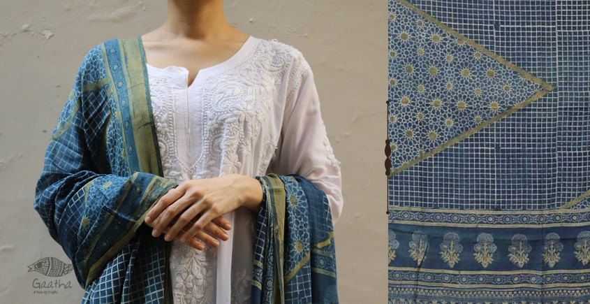 shop new collection of ajrakh dupatta 6