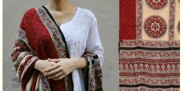 शोभना . Shobhna ❋ Mul Cotton Ajrakh Dupatta - 7