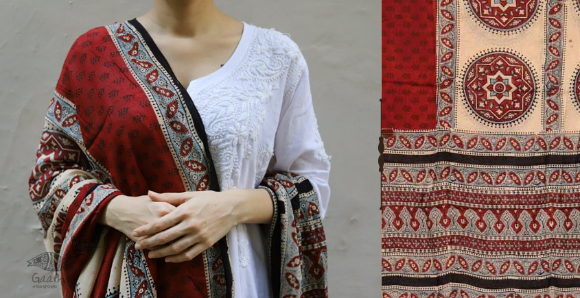 shop new collection of ajrakh dupatta 7