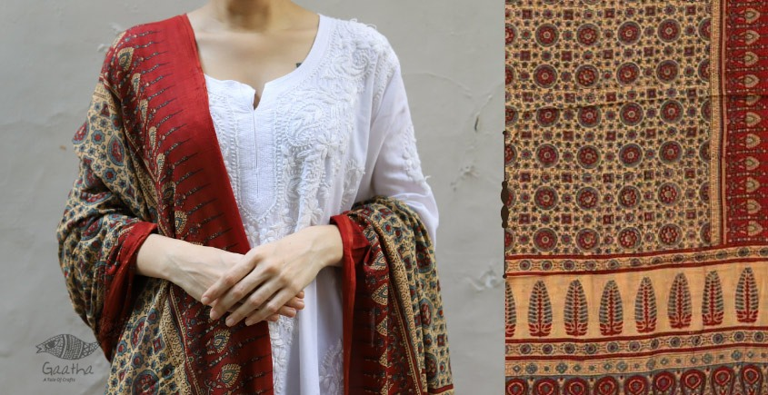 shop new collection of ajrakh dupatta 8