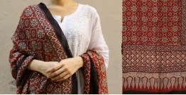 शोभना . Shobhna ❋ Mul Cotton Ajrakh Dupatta - 9