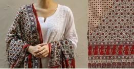 शोभना . Shobhna ❋ Mul Cotton Ajrakh Dupatta - 10