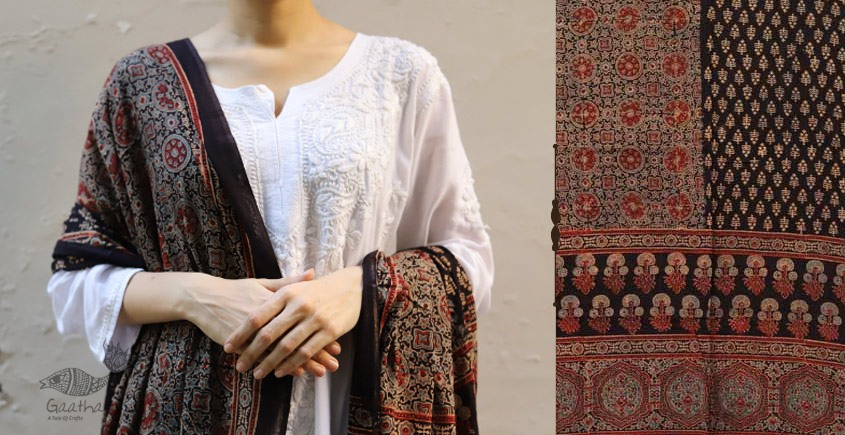 shop new collection of ajrakh dupatta 11
