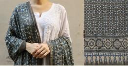 शोभना . Shobhna ❋ Mul Cotton Ajrakh Dupatta - 12