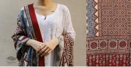 शोभना . Shobhna ❋ Mul Cotton Ajrakh Dupatta - 15