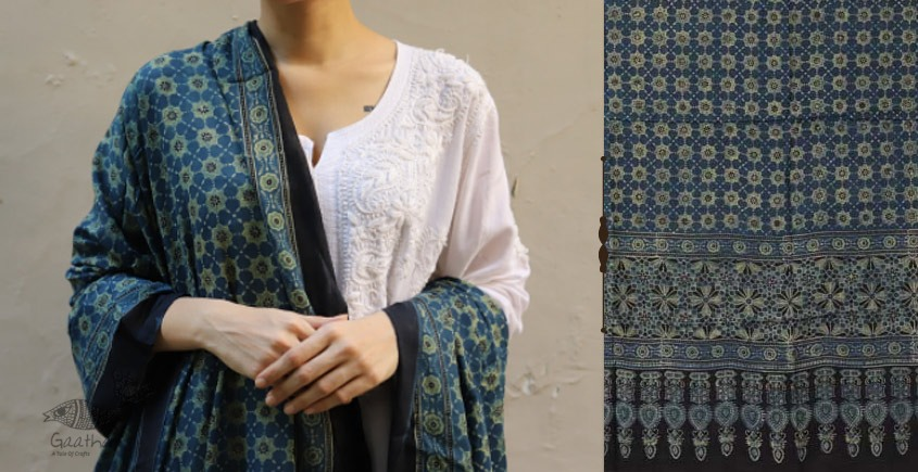 shop new collection of ajrakh dupatta 16