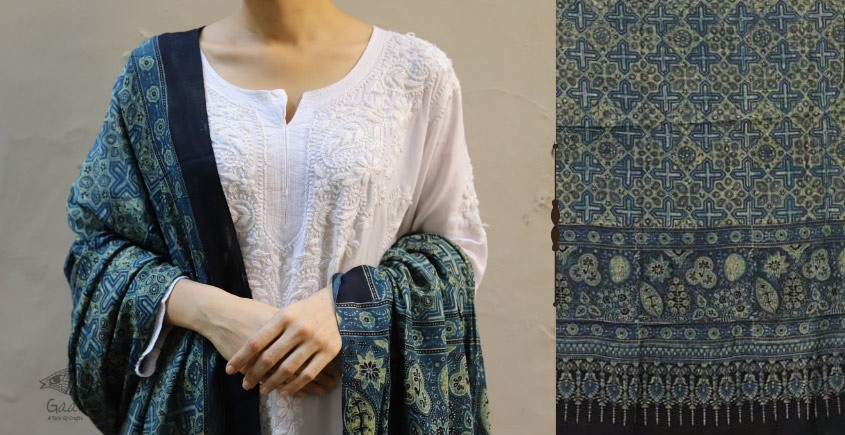shop new collection of ajrakh dupatta 17