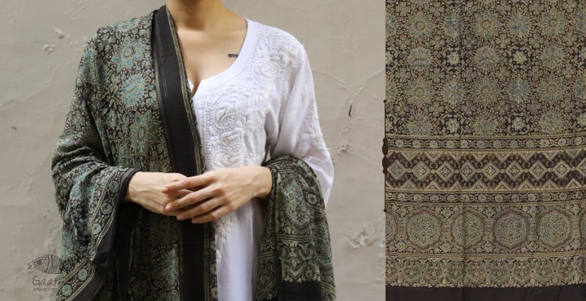 shop new collection of ajrakh dupatta 19