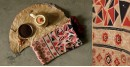 Original Ajrakh modal silk stole with diamond design