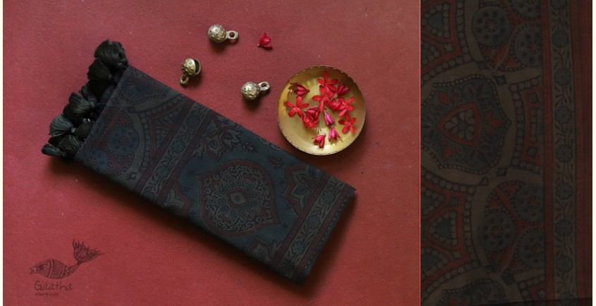 traditional pattern Cotton Ajrakh Stoles  - a gift for your sister