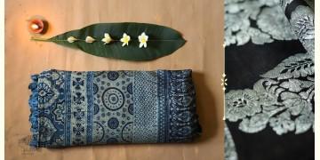 Celestial Decorations - Modal Silk Ajrakh Saree with Zari Pallu - 1