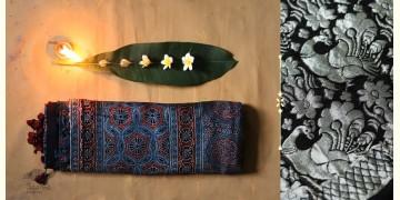 Celestial Decorations - Modal Silk Ajrakh Saree with Zari Pallu - 8