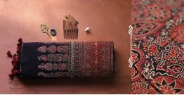 अंजन ◉ Ajrakh Handloom Maheshwari Saree ◉ 1